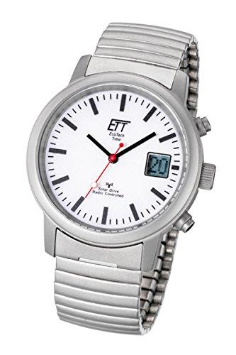 ETT Eco Tech Time Funk Solar Herren Uhr Chronograph mit Edelstahl Armband EGS-11187-11M