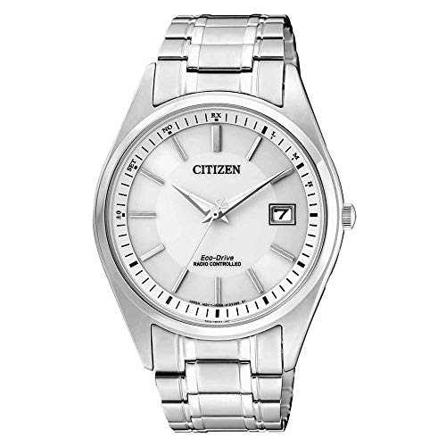 CITIZEN Herren Analog Solar Uhr mit Edelstahl Armband AS2050-87A