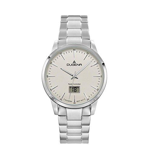 Dugena Herren Funk-Armbanduhr, Saphirglas, Edelstahl-Armband, Edelstahlgehäuse, Momentum, Silber, 4460856