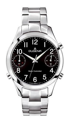 Dugena Herren-Armbanduhr Chronograph - Funkuhren Analog Quarz Edelstahl 4460548