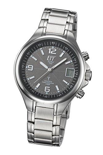 ETT Eco Tech Time Funk Solar Herren Uhr Analog-Digital mit Edelstahl Armband EGS-11035-31M