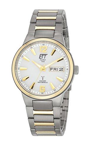 ETT Eco Tech Time Funk Solar Herren Uhr Analog mit Titan Armband EGT-11322-11M