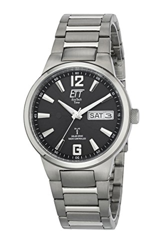 ETT Eco Tech Time Funk Solar Herren Uhr Analog mit Titan Armband EGT-11321-21M