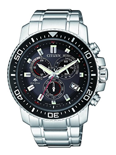 Citizen Herren Chronograph Quarz Uhr mit Edelstahl Armband AS4080-51E