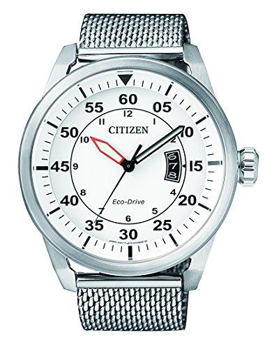 Citizen Herren-Armbanduhr Analog Quarz Edelstahl AW1360-55A