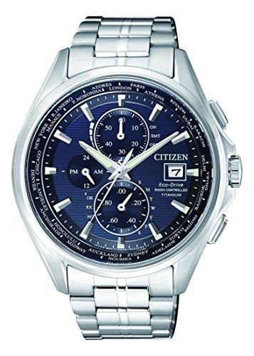 Citizen Herren Chronograph Quarz Uhr mit Titan Armband AT8130-56L