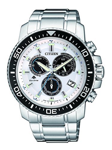 Citizen Herren Chronograph Quarz Uhr mit Edelstahl Armband AS4080-51A