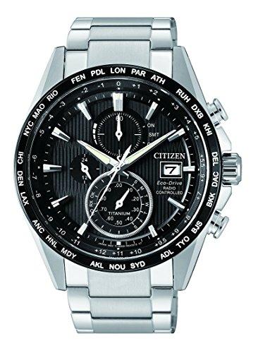Citizen Herren Chronograph Solar Uhr mit Titan Armband AT8154-82E