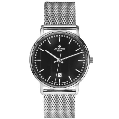 Junghans Herren-Armbanduhr XL Milano Solar Analog Quarz Edelstahl 014/4061.44